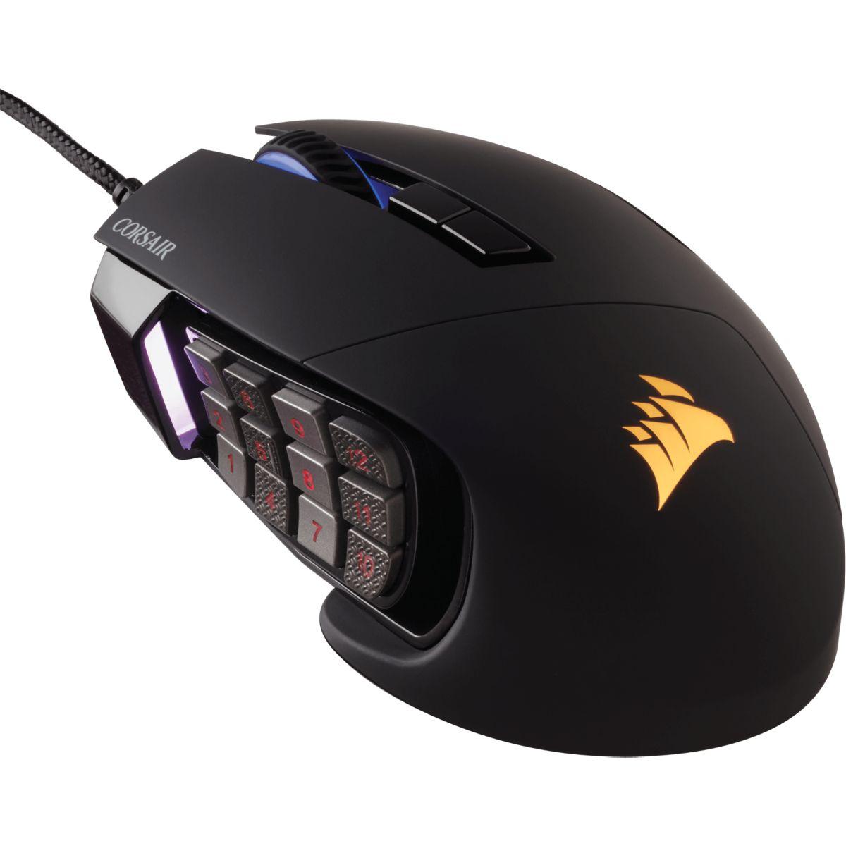 Souris gamer CORSAIR Scimitar Pro RGB - Noir