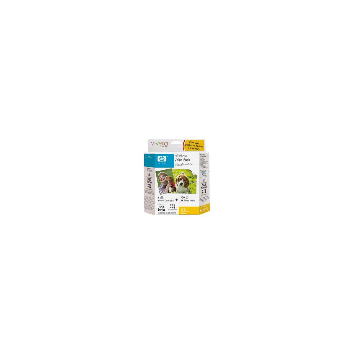 Cartouche HP N°363 Photopack (+150F 10*1