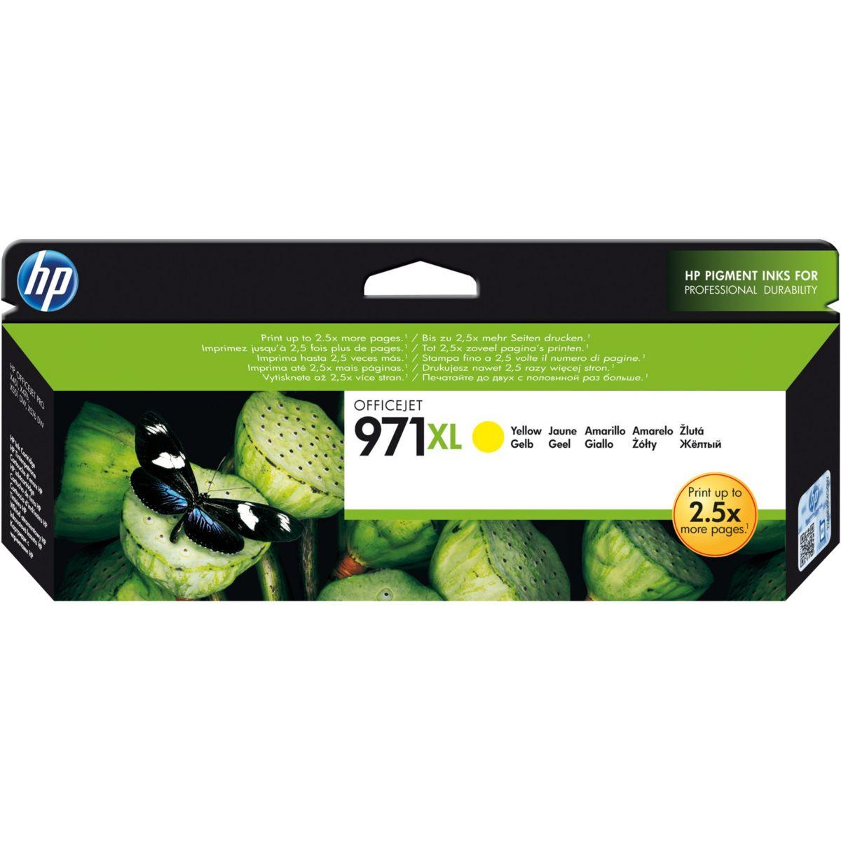 Cartouche d'encre HP 971XL Jaune