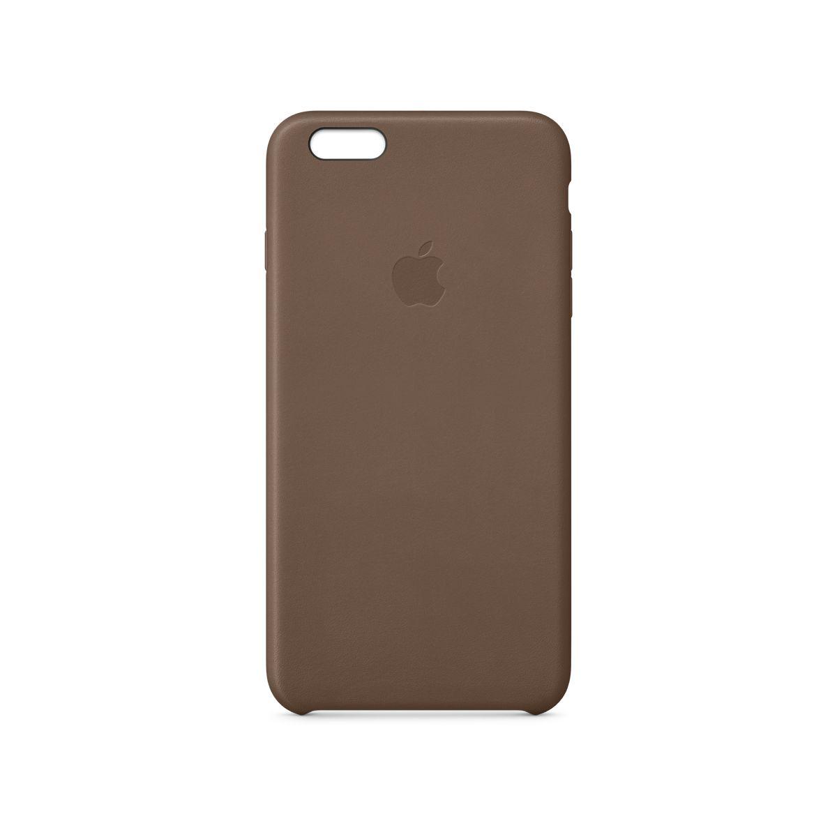 Coque APPLE iPhone 6 Plus brun olive cuir (photo)