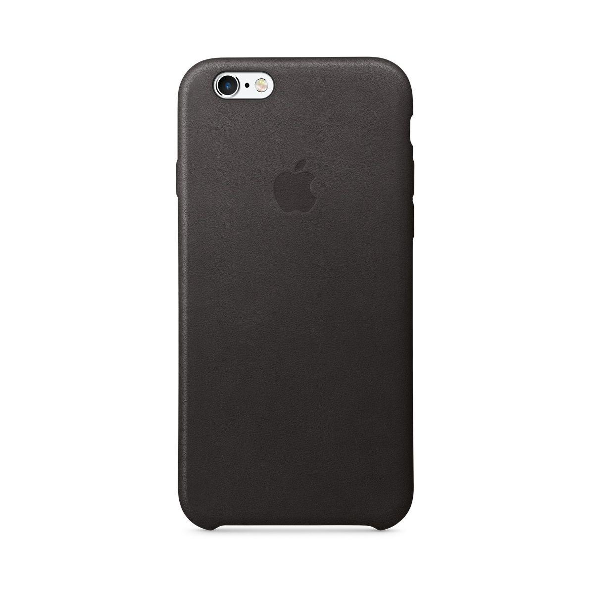 Coque APPLE iPhone 6s cuir noir (photo)