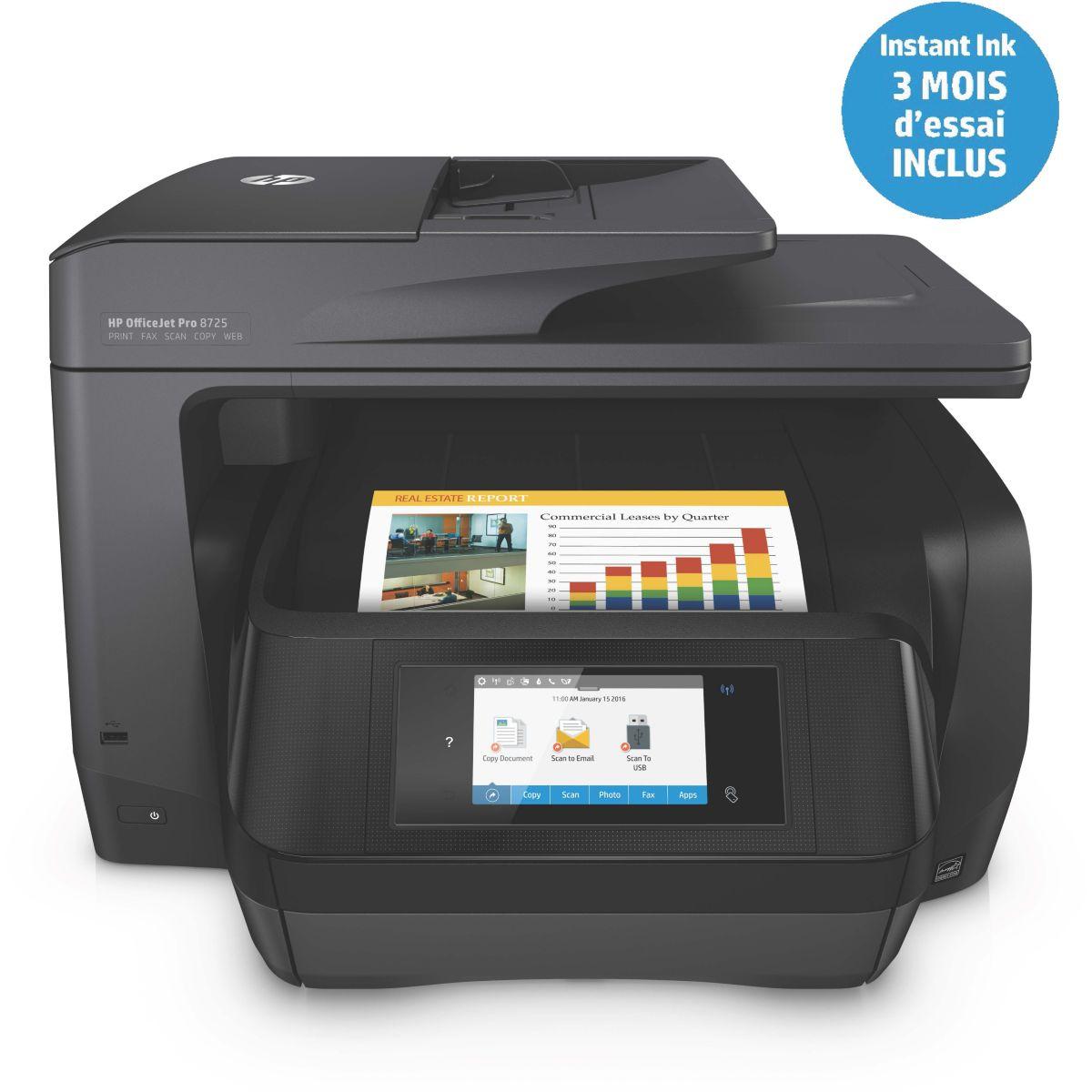 Imprimante jet d'encre HP Office Jet Pro 8725