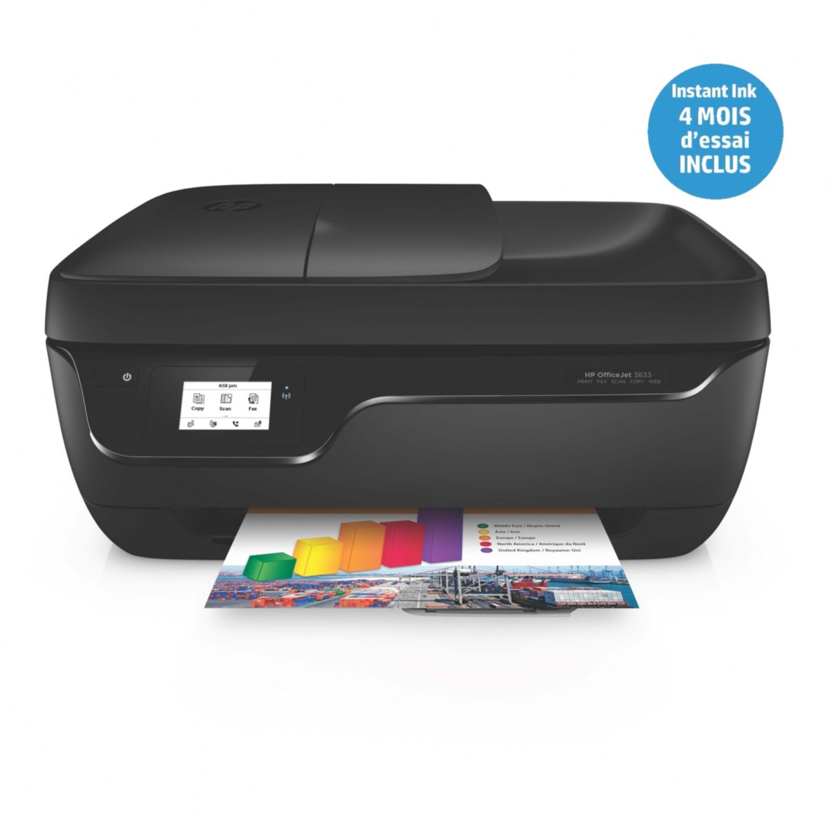 Imprimante jet d'encre HP Office Jet 3833