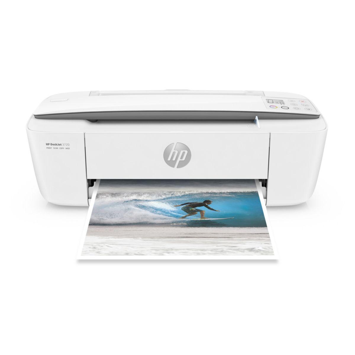 Imprimante jet d'encre HP Deskjet 3720 Blanc (photo)