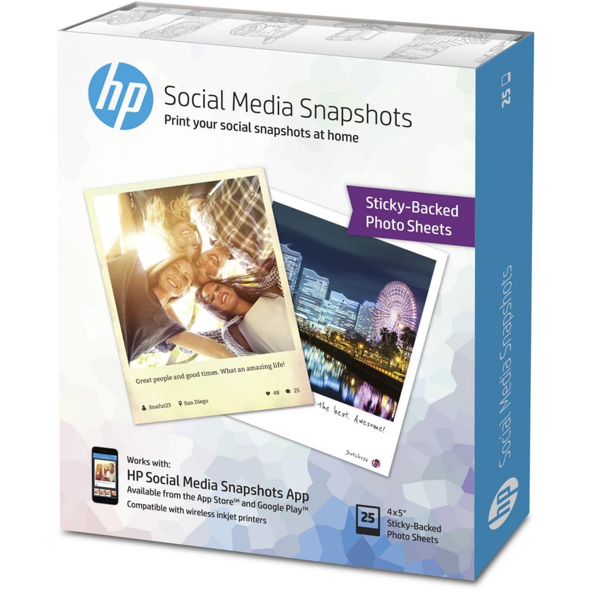 Papier photo HP W2G60A-10x13cm-25f-265g/m² Snapshot