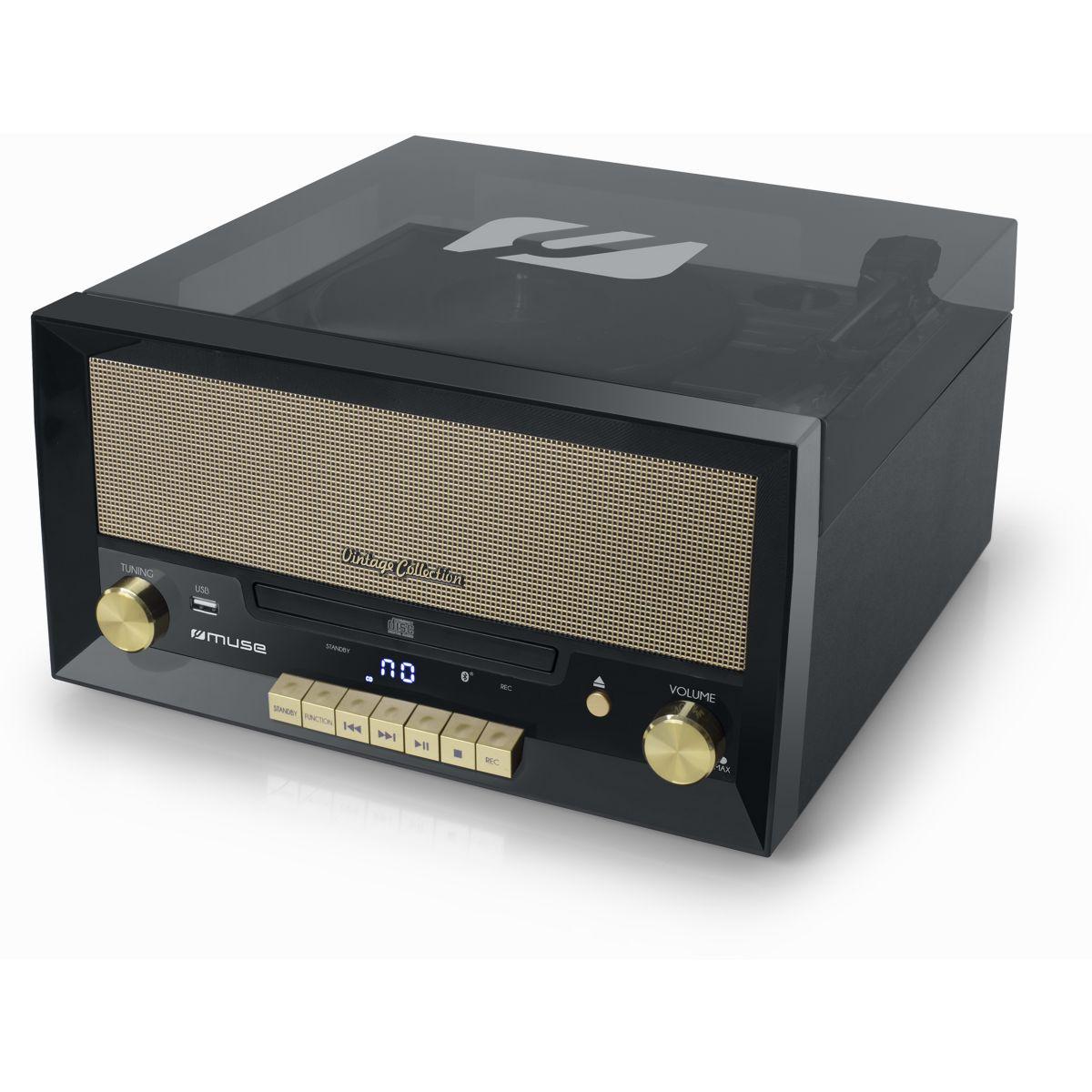 Platine vinyle MUSE vinyle MT-110B noir