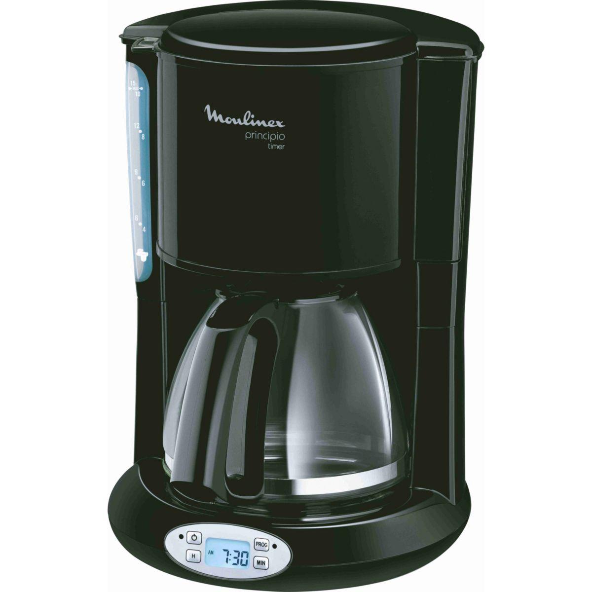 Cafetière programmable MOULINEX FG262810 Principio noire