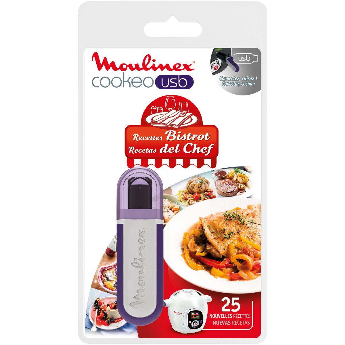 Clé USB MOULINEX COOKEO 25 recettes Bistrot