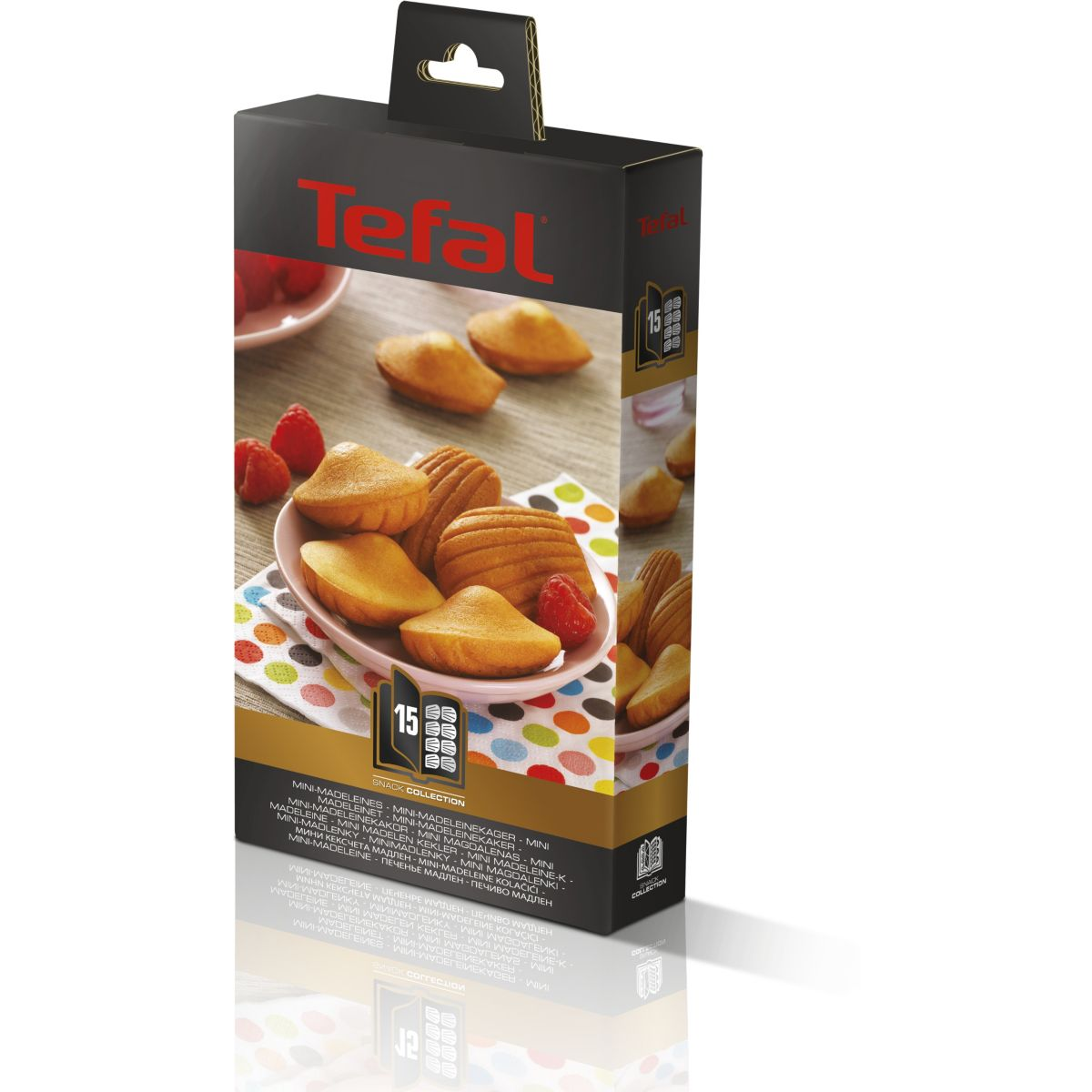 Plaque TEFAL XA801512 - madeleine snack collection