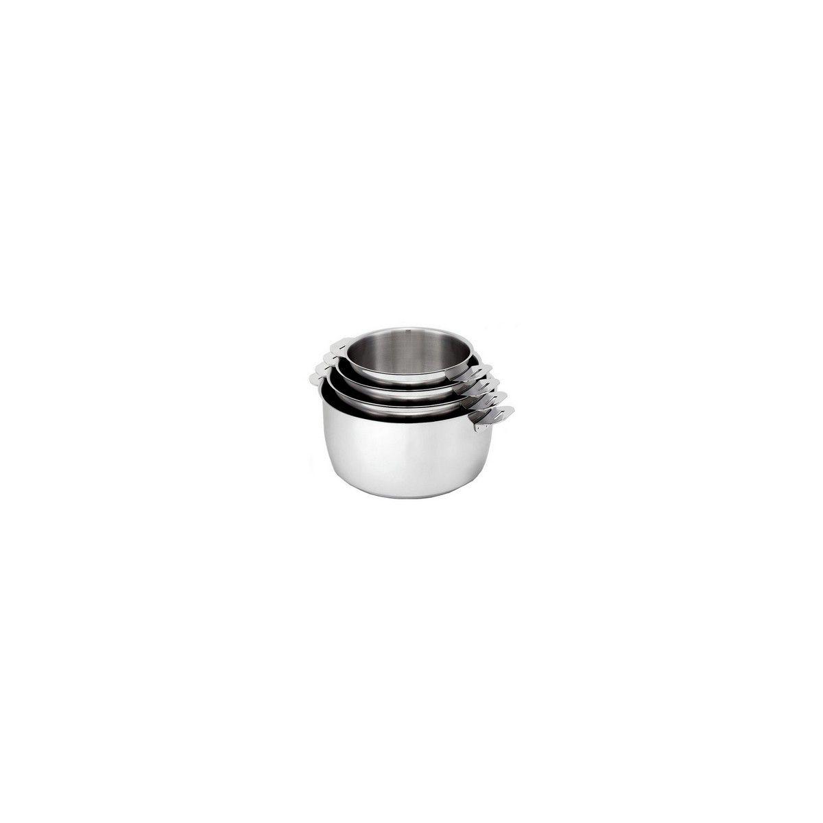 Batterie de cuisine KITCHEN FUN Move On 4 casseroles diam14-16-18-20cm