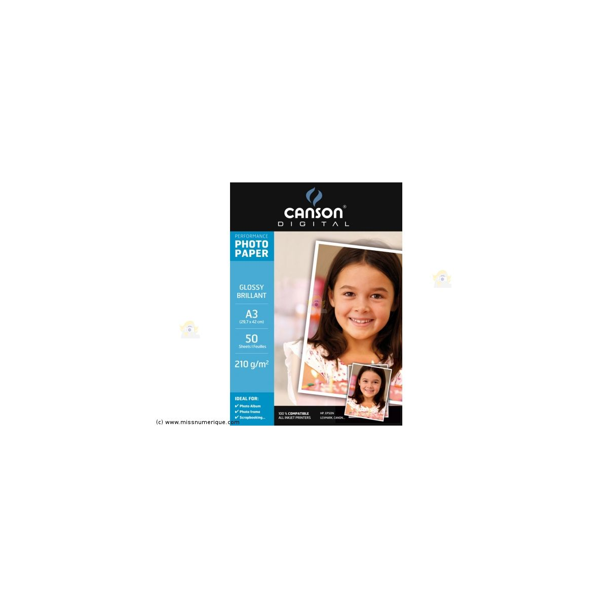 Papier photo CANSON BTE 50FL A3 210G PHOT BRILLANT (photo)