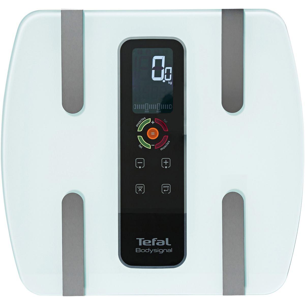 Pèse personne impédancemètre TEFAL BM7100S6 body signal glass 3