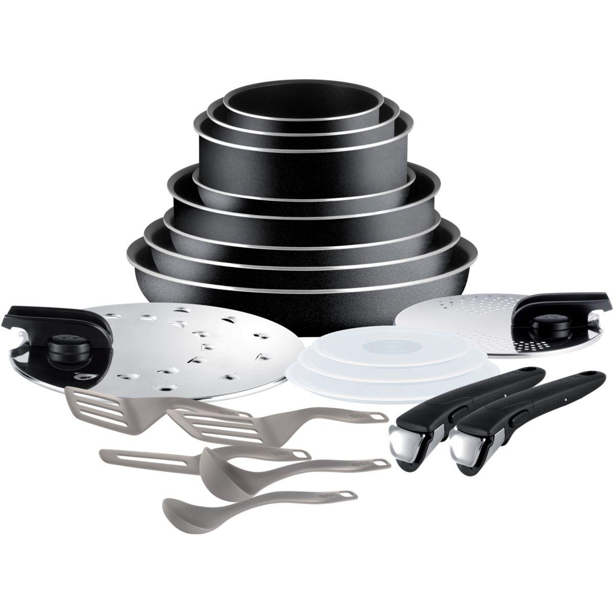 Batterie de cuisine TEFAL Ingenio Essential Noir 20 pcs L2009702