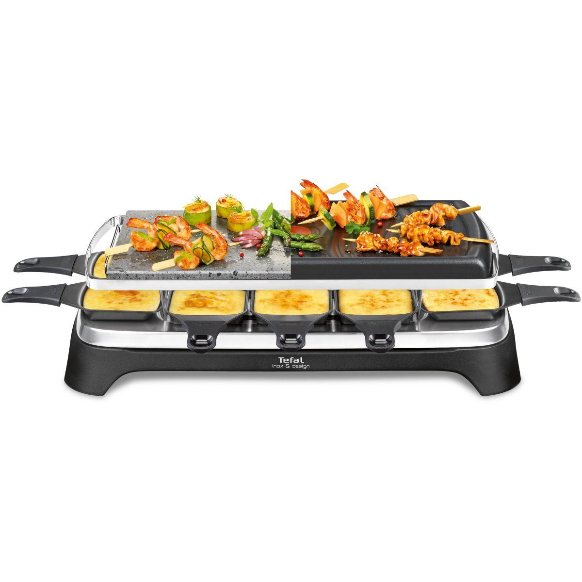 Raclette TEFAL RE45A812 Pierrade 3 en 1