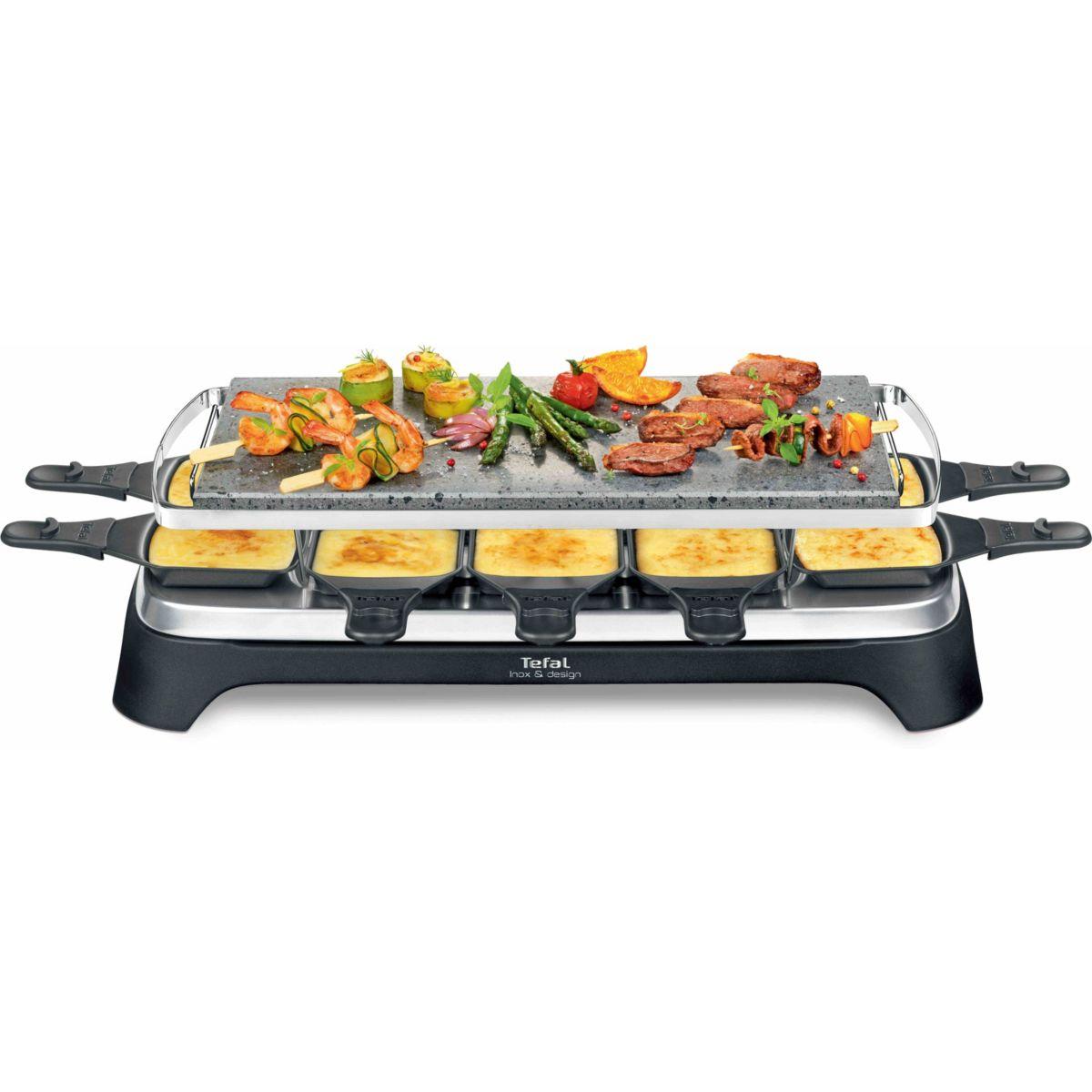 Raclette et Pierre à cuire TEFAL INOX&DESIGN PR45