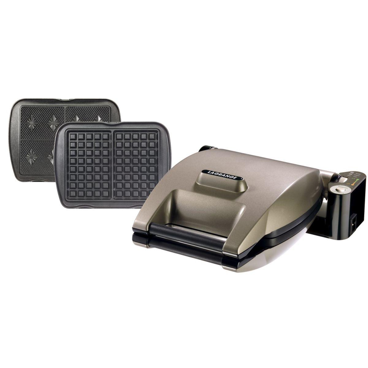 Gaufrier LAGRANGE Premium 019222 Gaufre/Gaufrette Argent