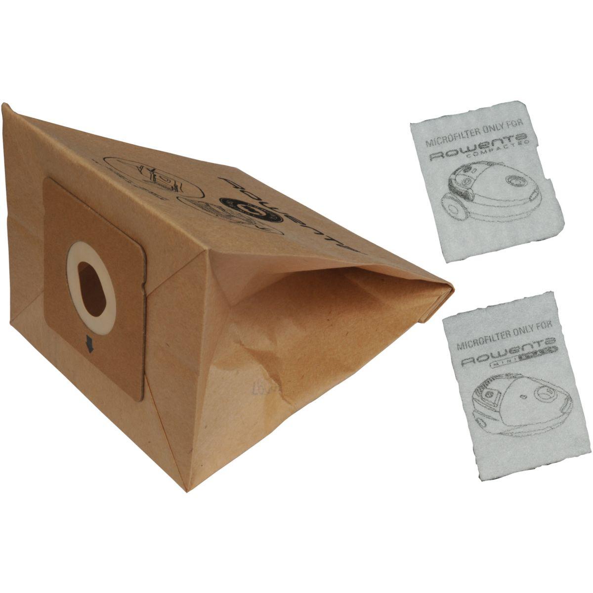 Sac aspirateur MOULINEX 6 Sacs papier +1 Micrfiltre