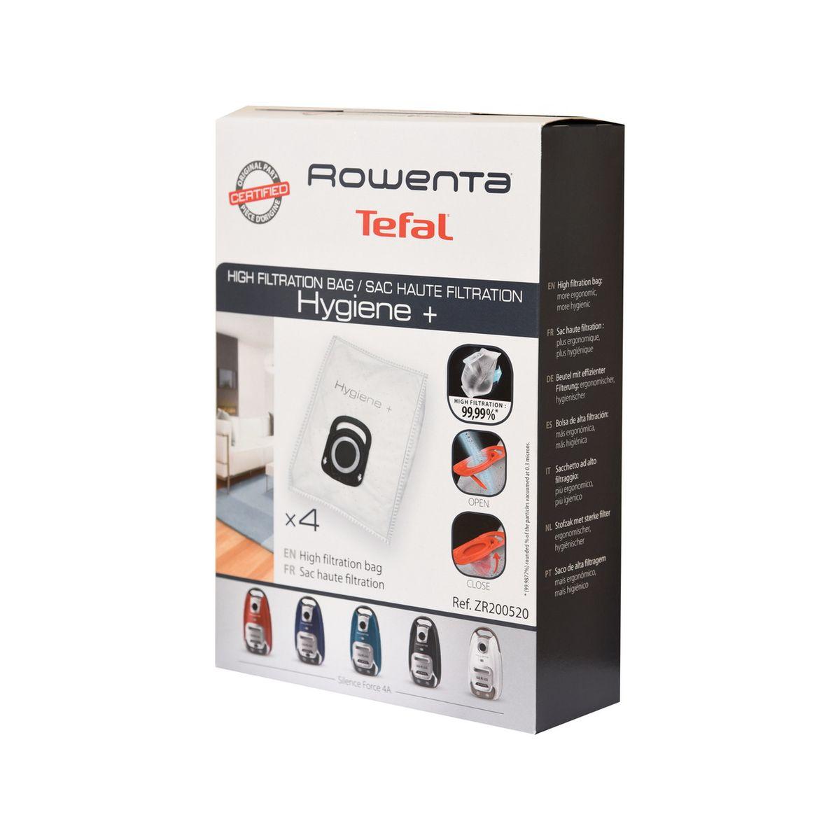 Sac aspirateur ROWENTA 4 sacs haute filtration hygiène +