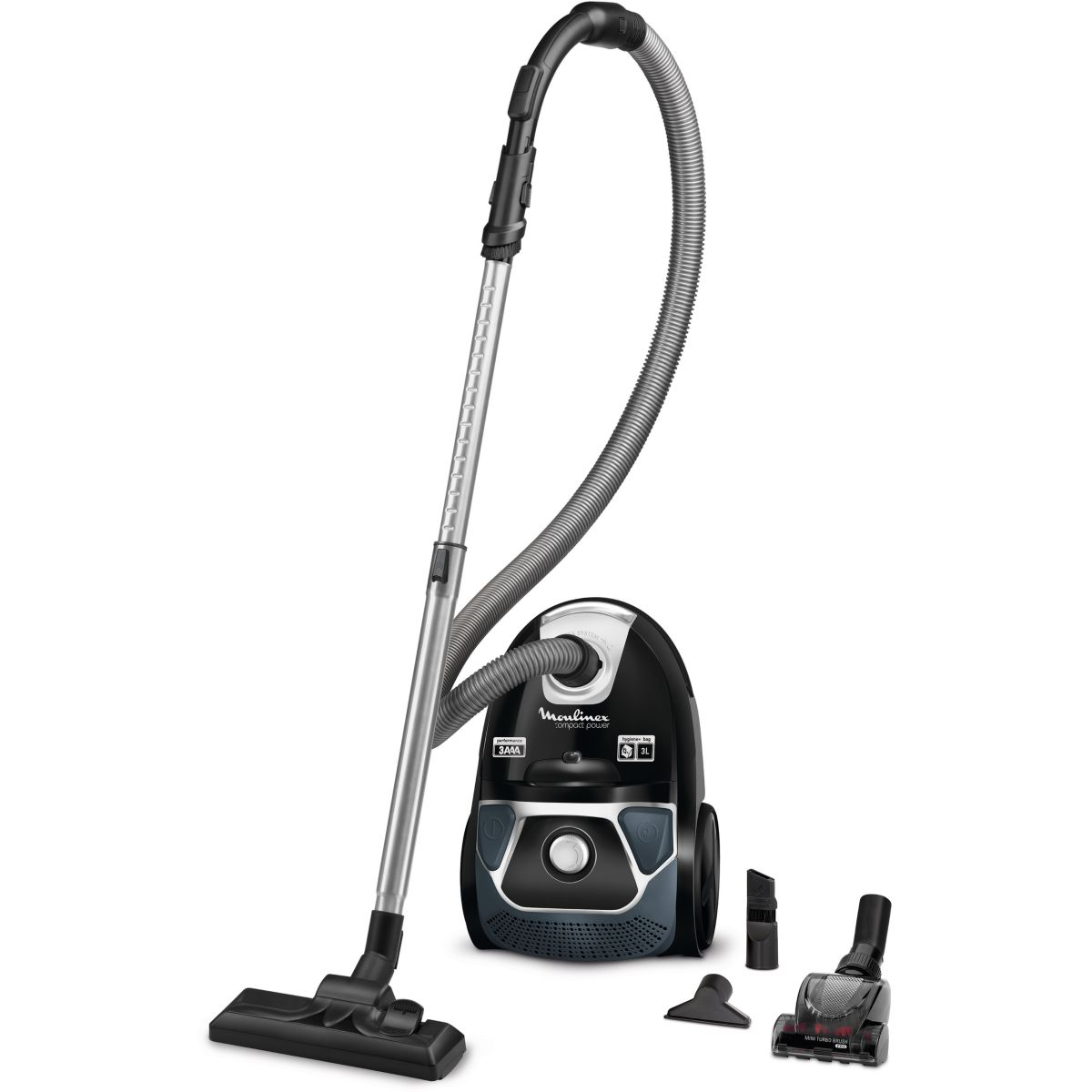 Aspirateur avec sac MOULINEX MO3985PA Compact power animal care (photo)