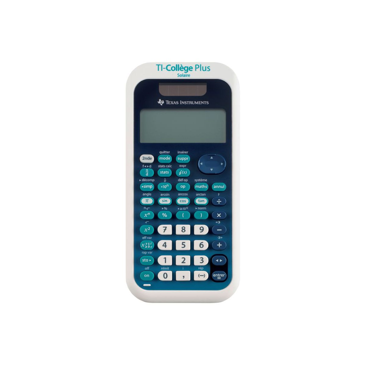 Calculatrice scientifique TEXAS INSTRUMENTS TI-Collège+ solaire (photo)