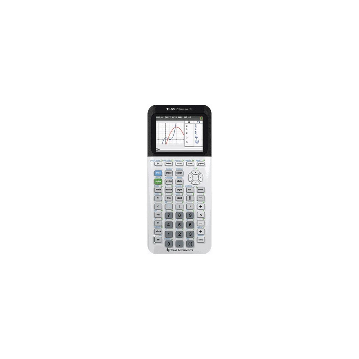 Calculatrice graphique TEXAS INSTRUMENTS TI-83 Premium CE (photo)