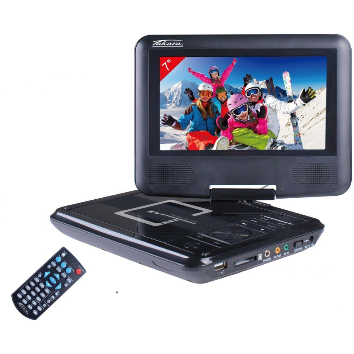 Lecteur DVD portable TAKARA VR132B noir 7'' (photo)
