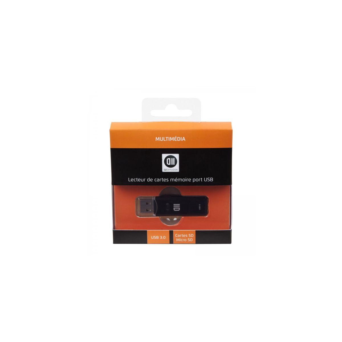 Lecteur de carte mémoire D2 SD micro SD port micro USB 3.0 (photo)