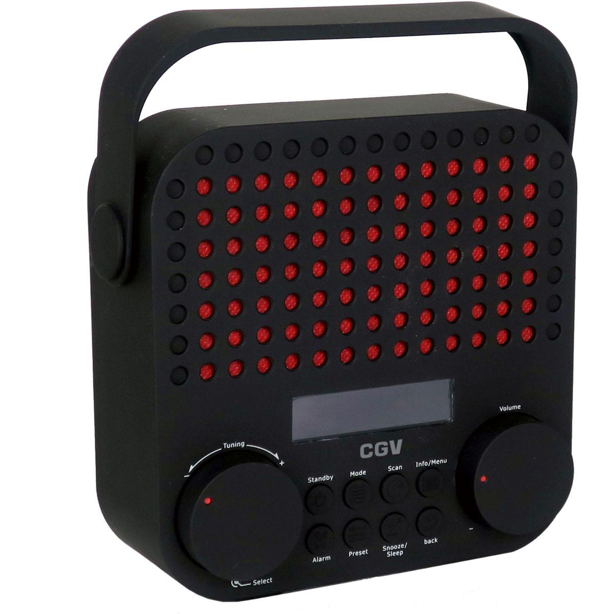 Radio numérique CGV DR15+ noire