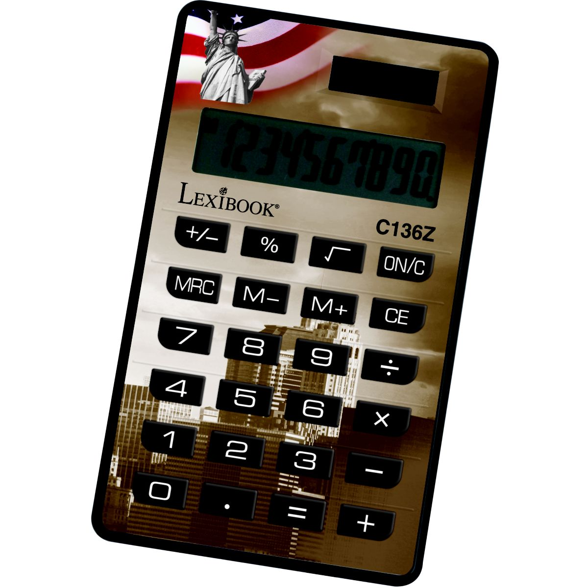 Calculatrice standard LEXIBOOK Calculatrice 10 chiffres Cities-Assortis (photo)