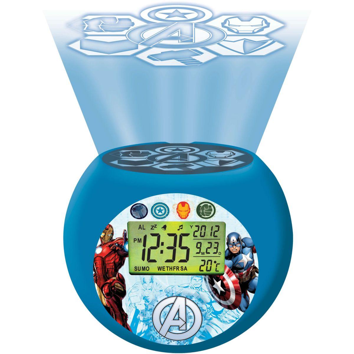 Radio-réveil enfant LEXIBOOK Projecteur Boule Avengers (photo)