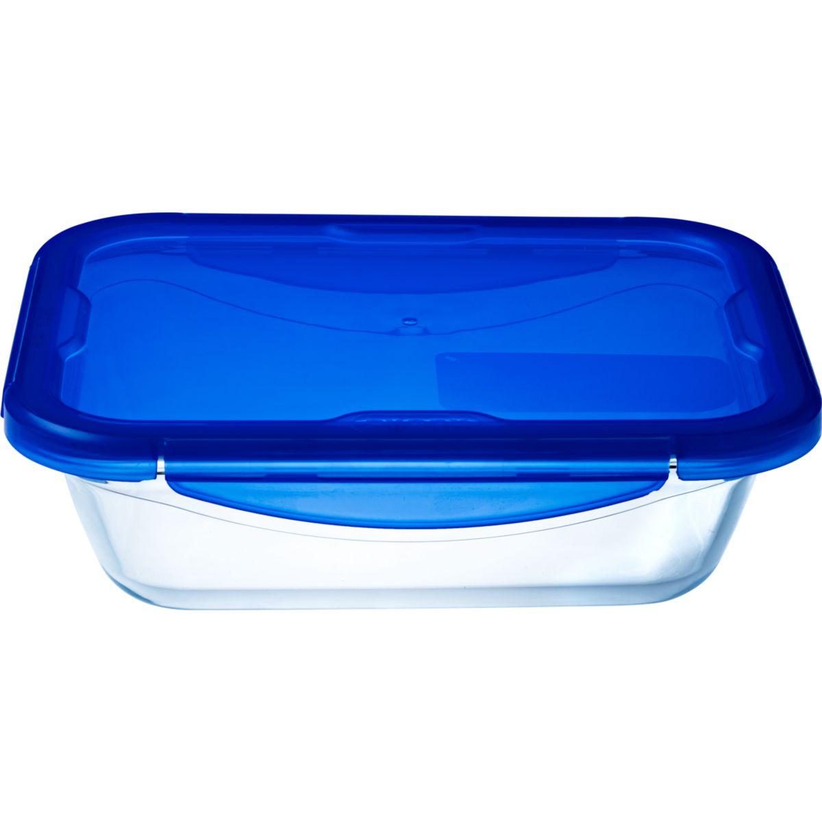 Boîte de conservation PYREX rect 3.4L en verre Cook&Go + couvercle