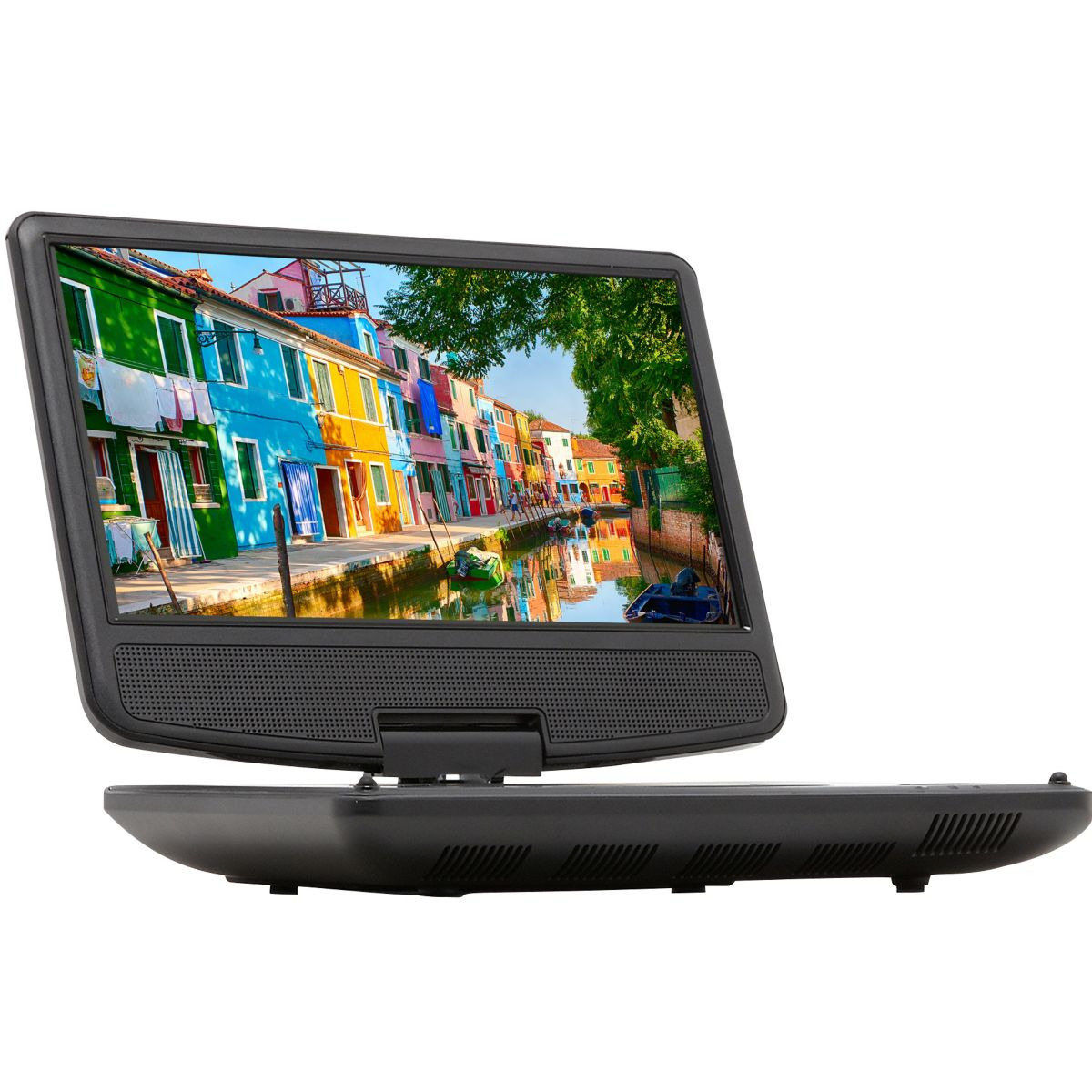 Lecteur DVD portable ESSENTIELB MobiliTwist + Support Voiture (photo)
