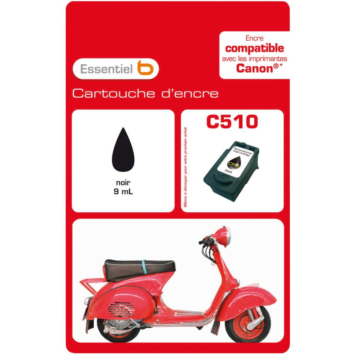 Cartouche d'encre ESSENTIELB C510 - Noire Série Scooter