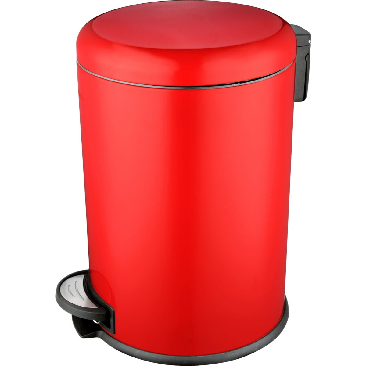 Poubelle ESSENTIELB ronde 20L Rouge à pé (photo)