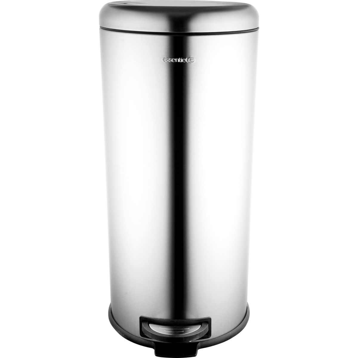 Poubelle ESSENTIELB ronde 30L Inox à péd (photo)