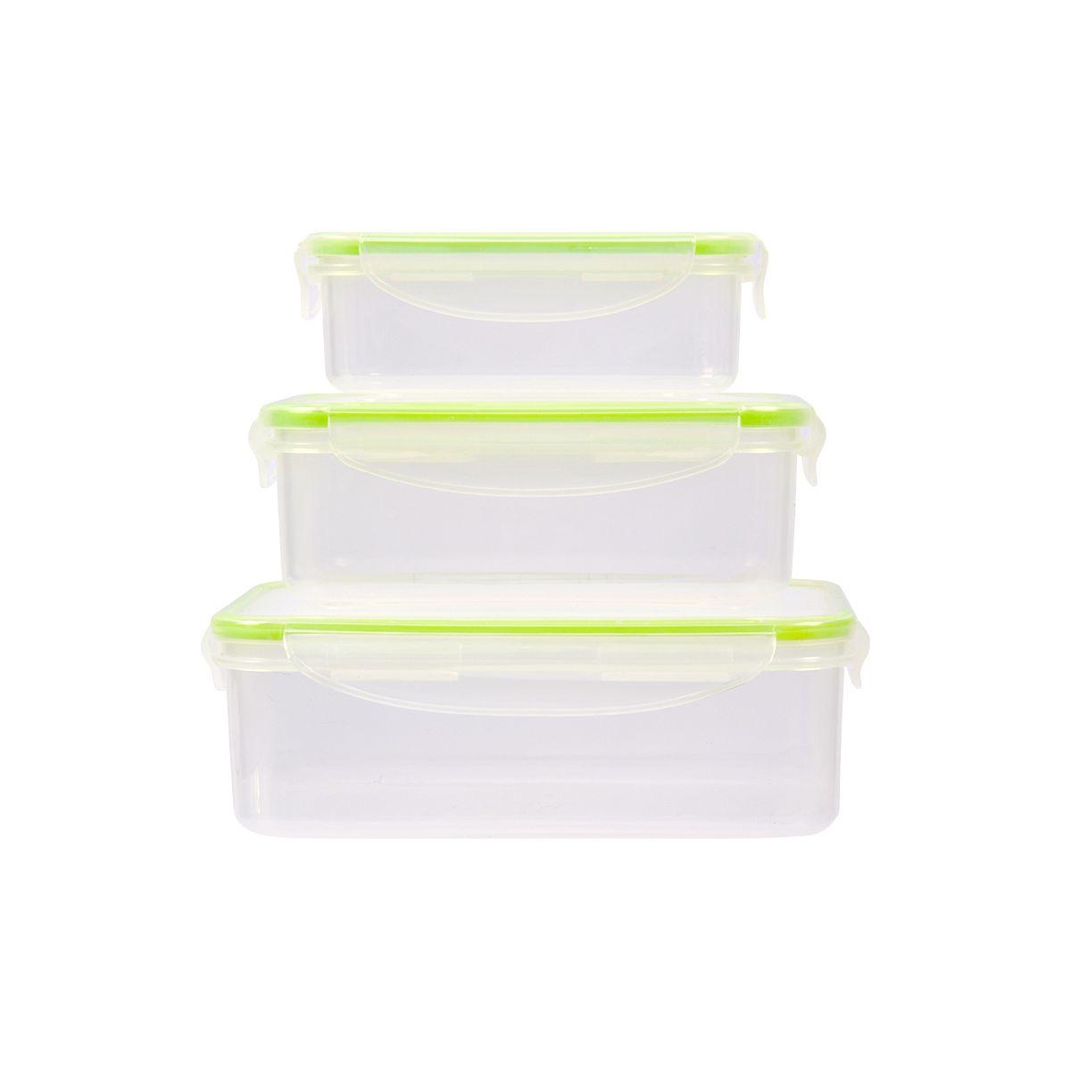 Boîte de conservation ESSENTIELB 3 boîtes plastiques rectangles