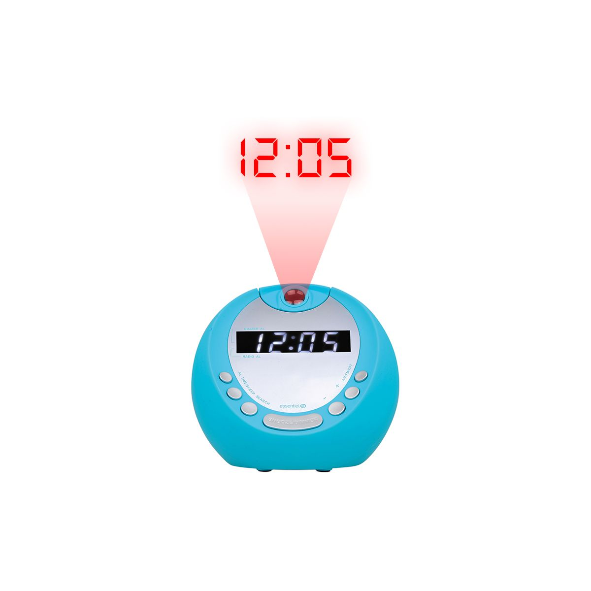 Radio réveil ESSENTIELB Get Up Turquoise (photo)
