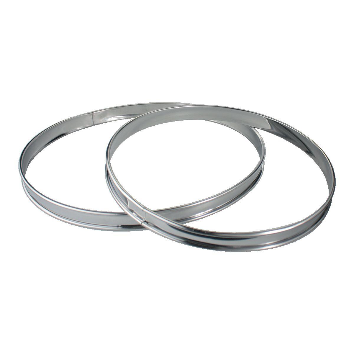 Cercle à pâtisserie ESSENTIELB de 2 cercles à tarte Inox 24 et 28 cm