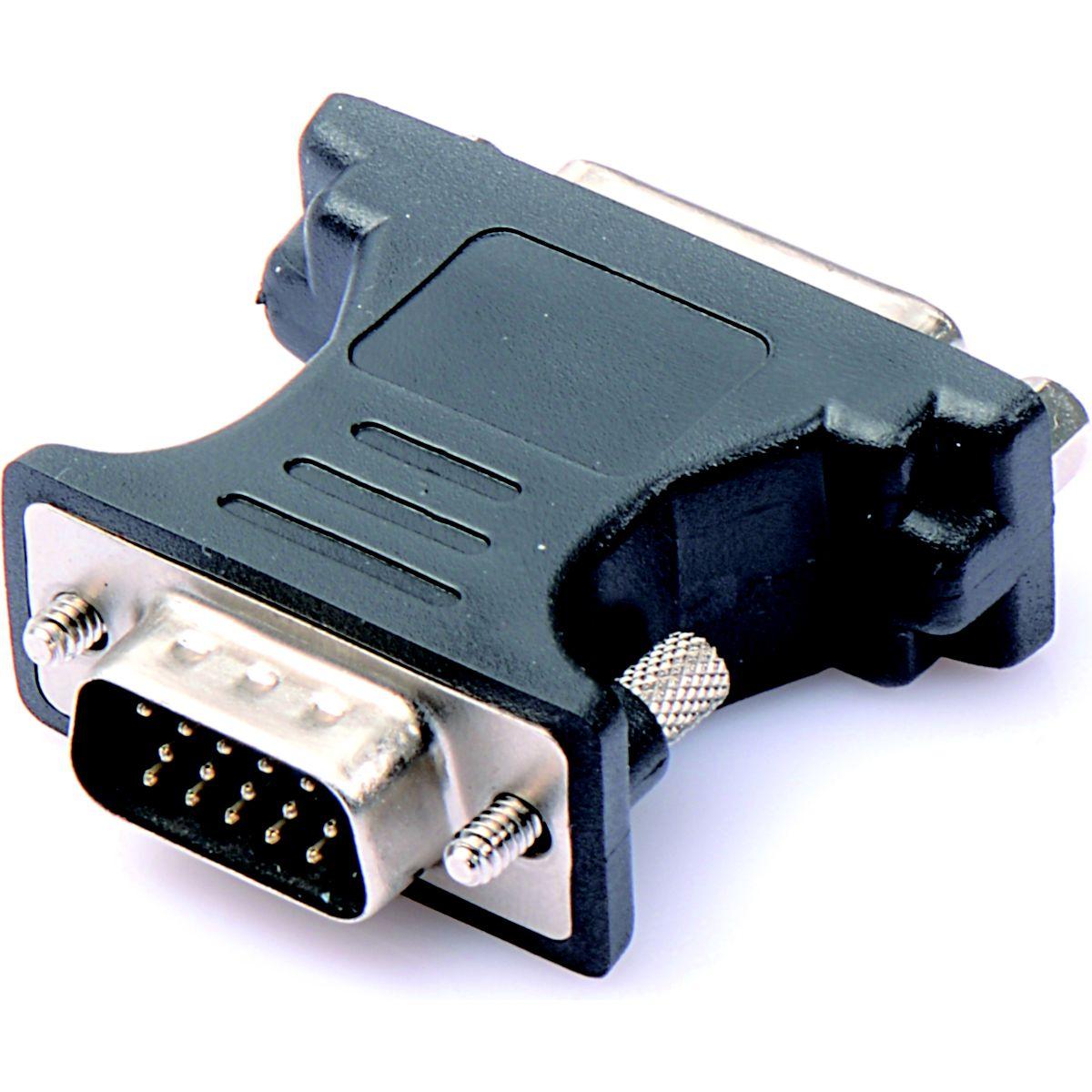 Adaptateur VGA ESSENTIELB VGA mâle / DVI femelle (photo)