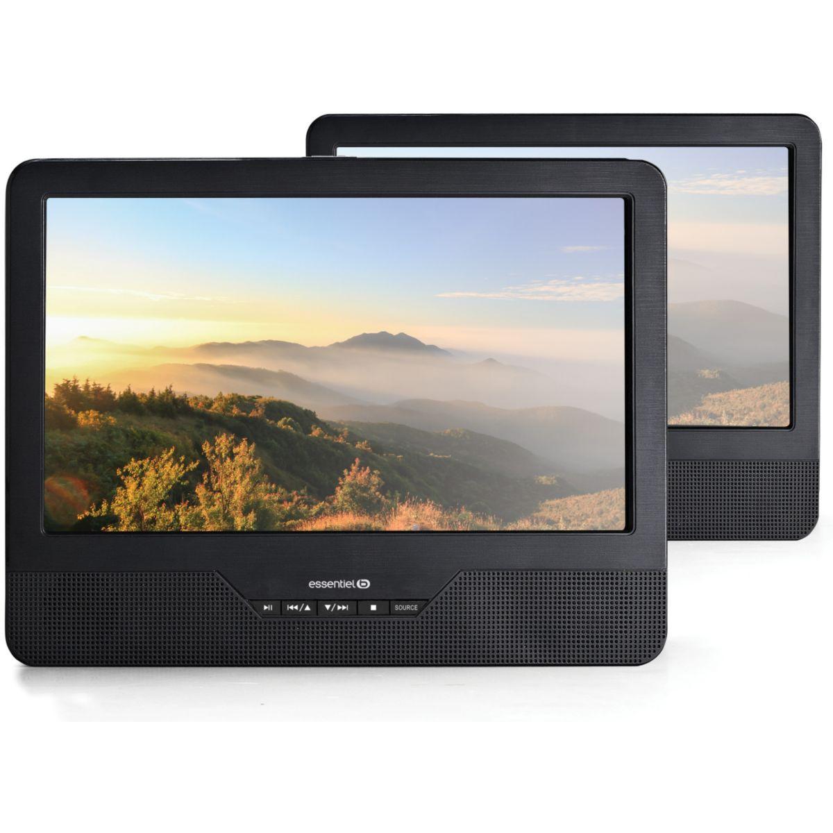 Lecteur DVD portable double écran ESSENTIELB Mobili MS9 + Support Voiture (photo)