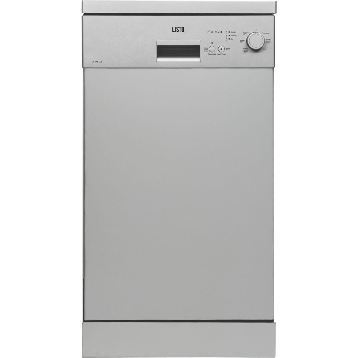 Lave vaisselle 45 cm LISTO LVS49 L3 Silver