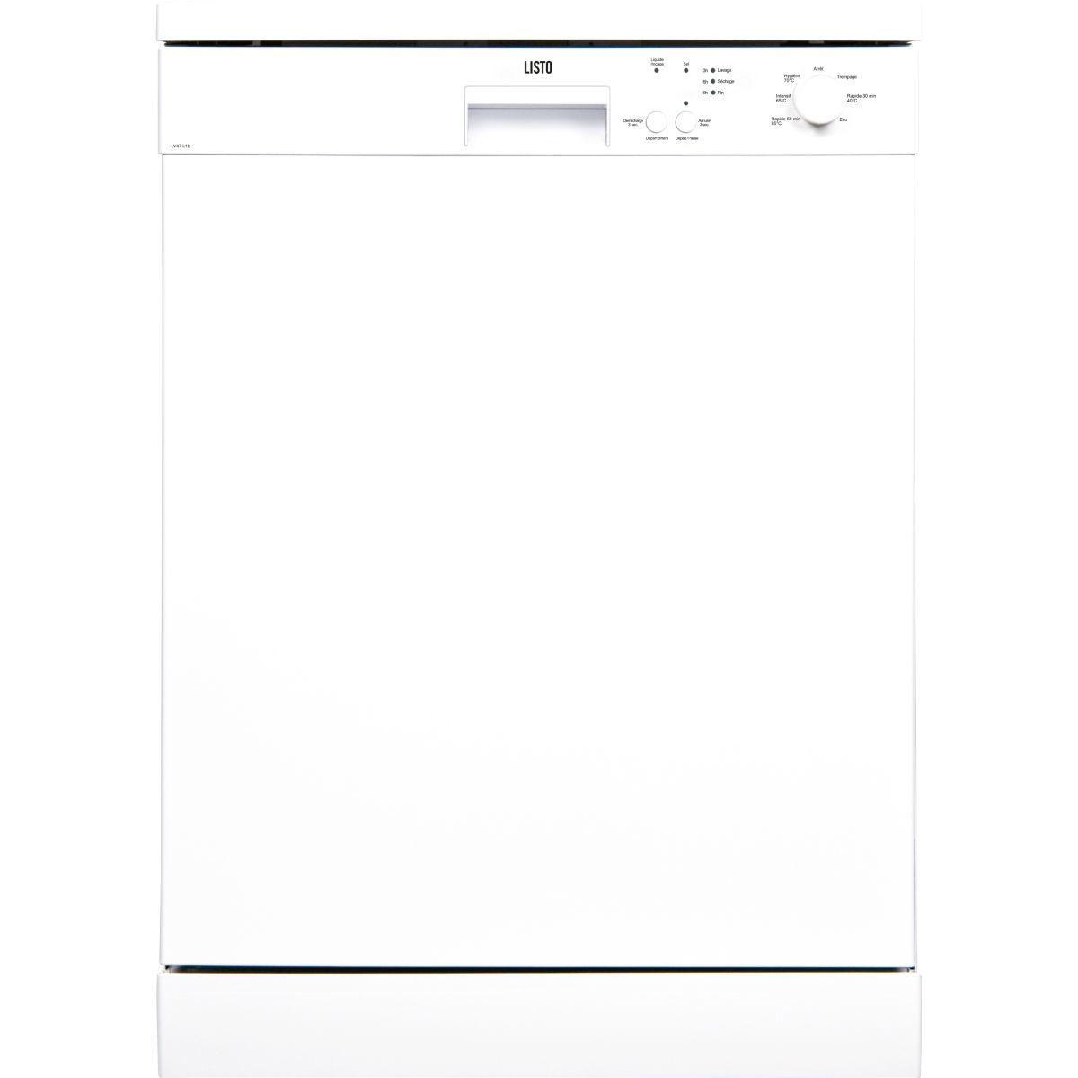 Lave-vaisselle 60cm LISTO LV47 L1 blanc (photo)