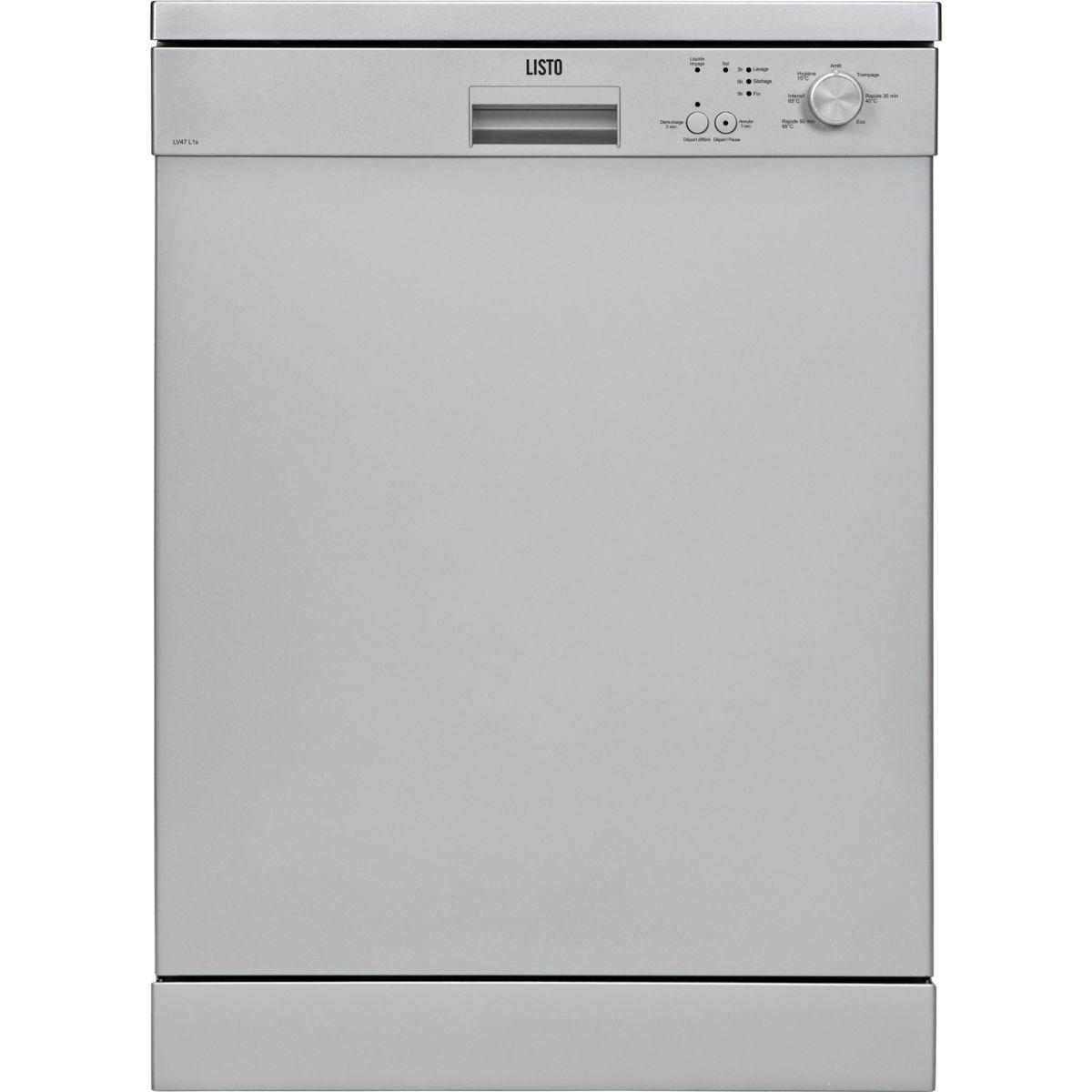 Lave vaisselle 60 cm LISTO LV47 L1 silver