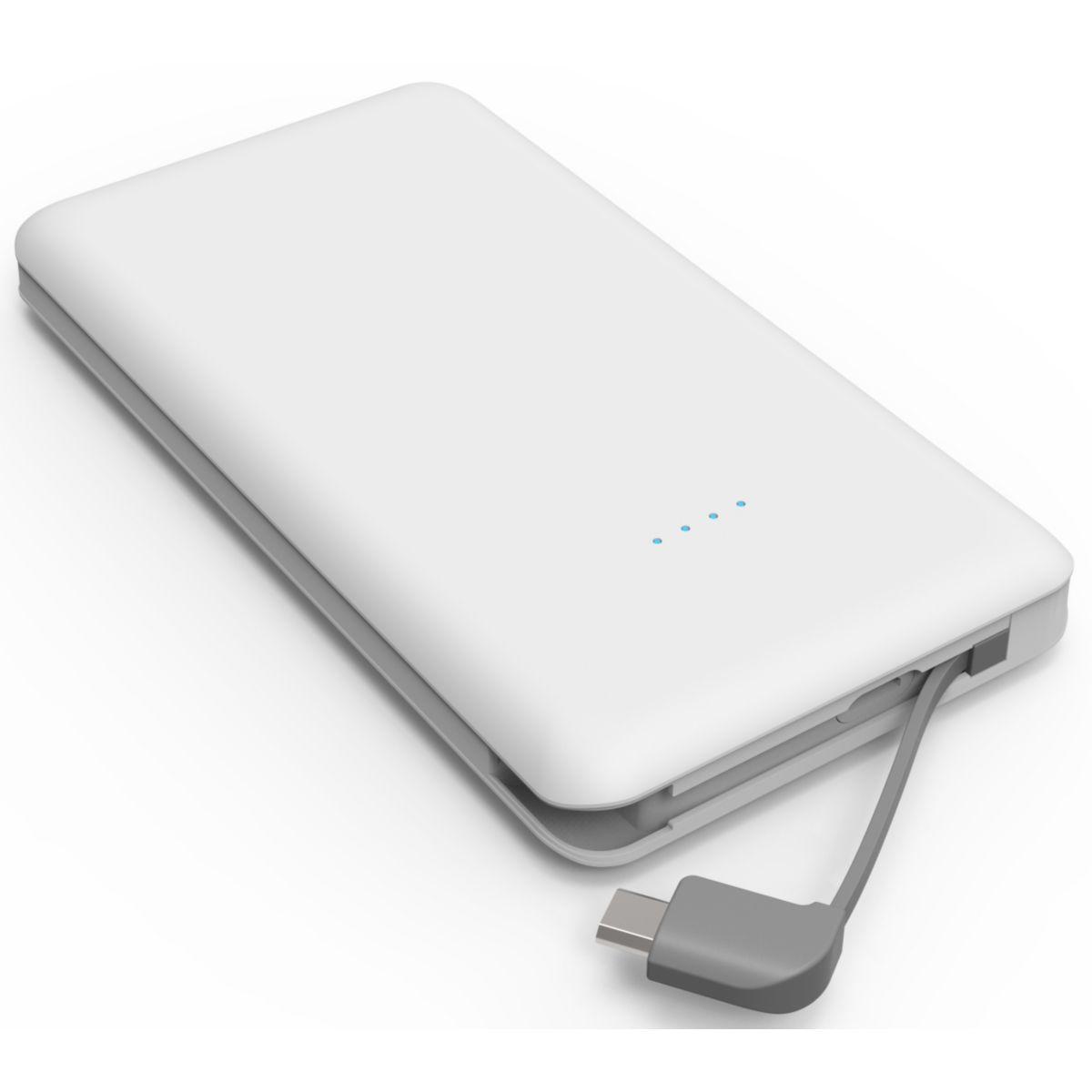 Batterie externe ESSENTIELB 10000 mAh Semaine micro usb -Blanc