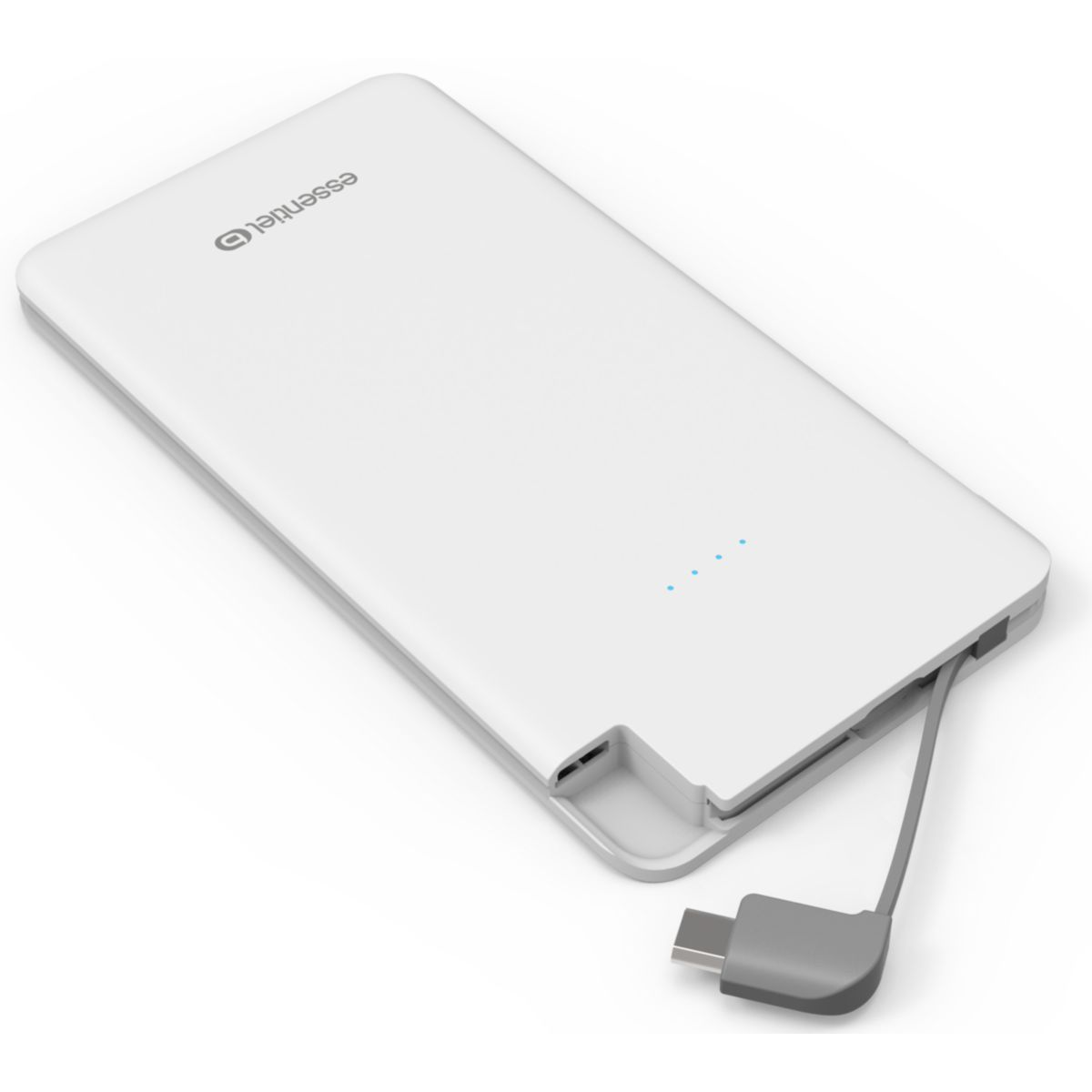 Batterie externe ESSENTIELB 5000 mAh Weekend micro usb -Blanc