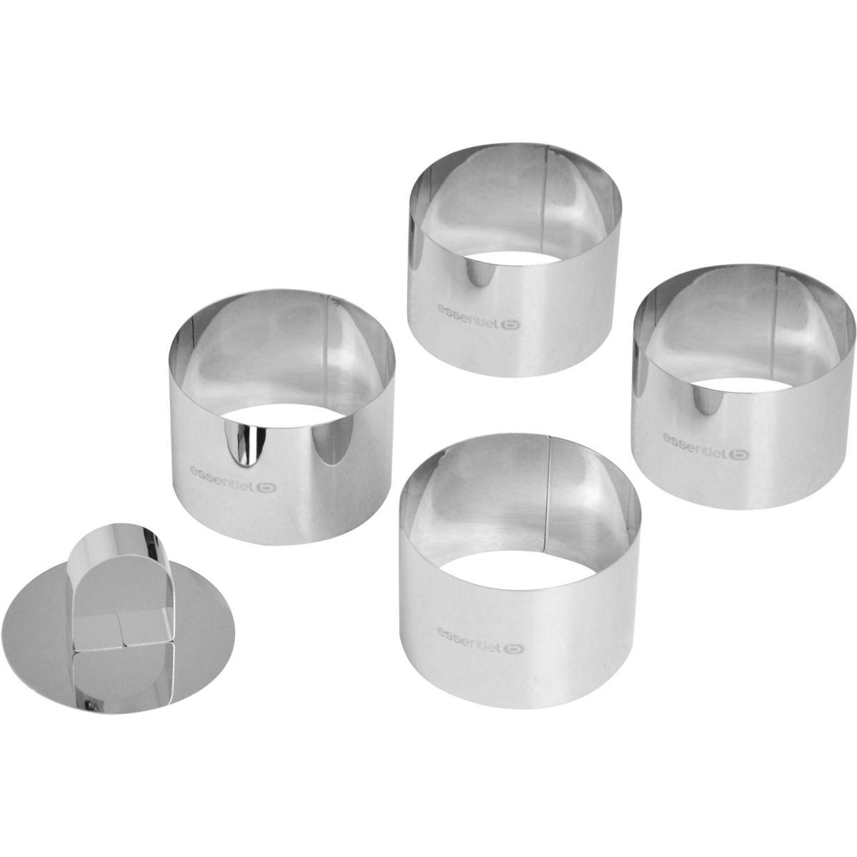 Emporte pièce ESSENTIELB 4 cercles inox diam 7.5 cm + 1 poussoir