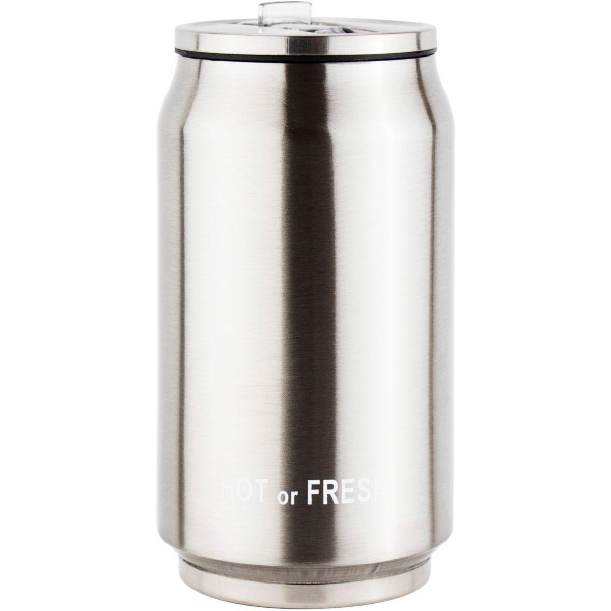 Mug isotherme ESSENTIELB 30 cl gris métallique