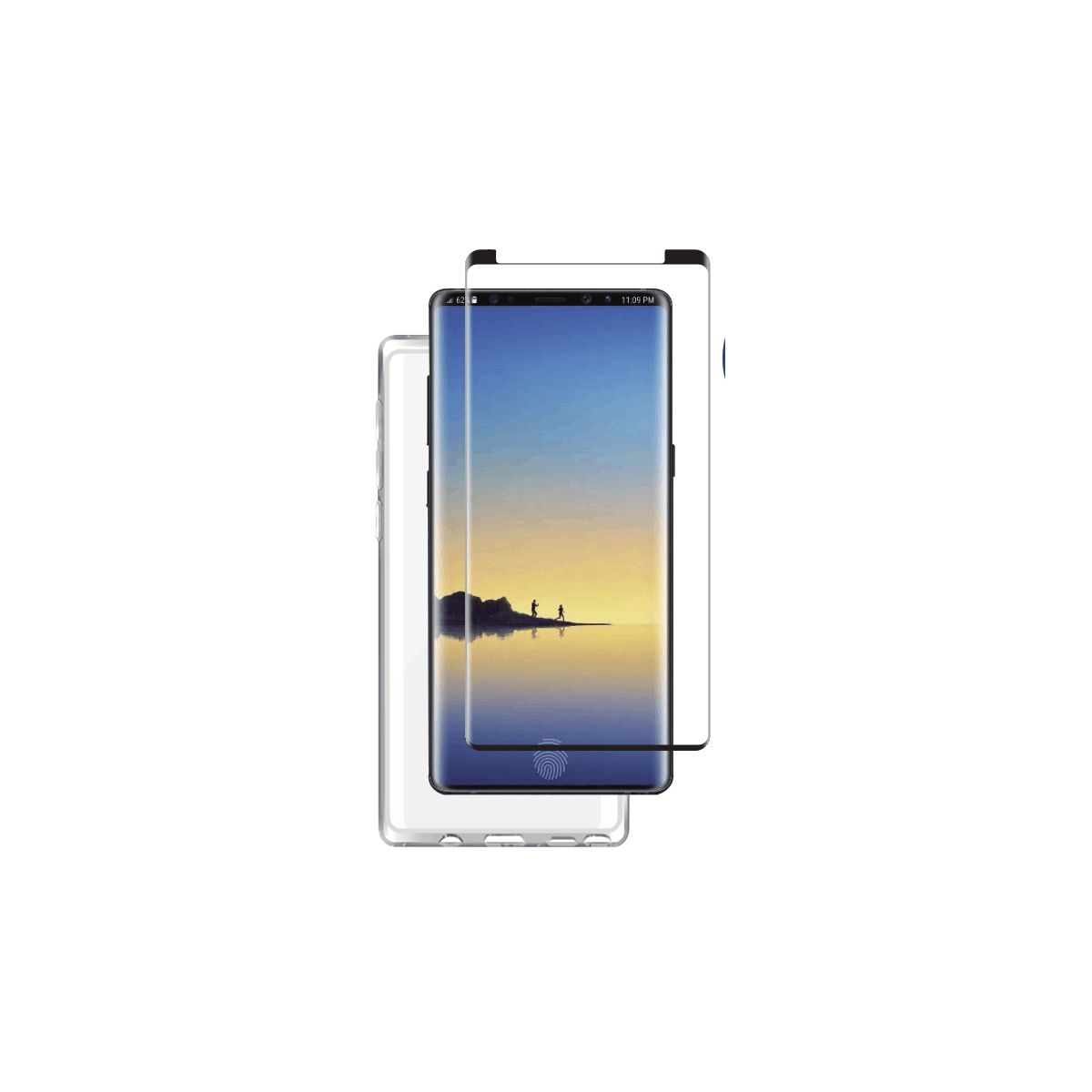 Coque + Protège écran ESSENTIELB Note 9 coque + Verre trempé + Applicateu (photo)