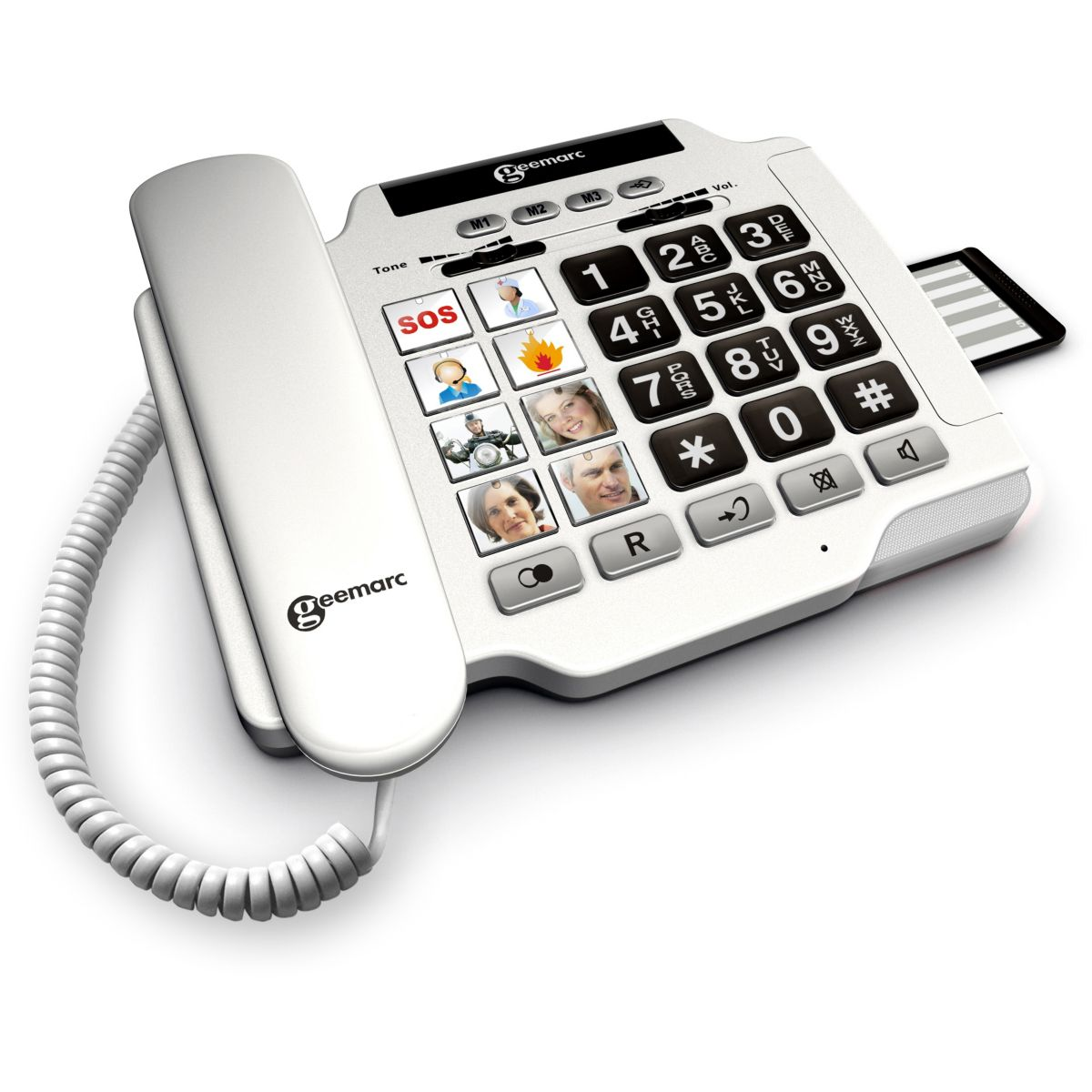 Téléphone filaire GEEMARC Photophone 100 Blanc
