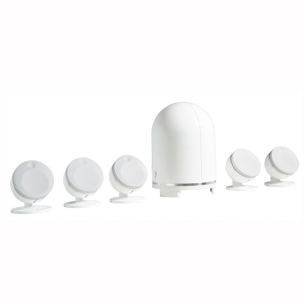 Pack 5 FOCAL Dome 5.1 blanc